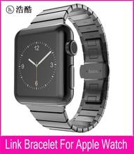 TOP Qualité Lien Bracelet Sangle Pour Apple Watch Série 2 et 1 42mm Noir Argent Acier Inoxydable Bracelets Pour Iwatch sangle