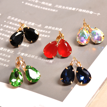 The new fashion gorgeous women s jewelry wholesale girls birthday party red and white black blue.jpg 350x350 - The new fashion gorgeous women's jewelry wholesale girls birthday party red and white black blue-green beautiful earring earring