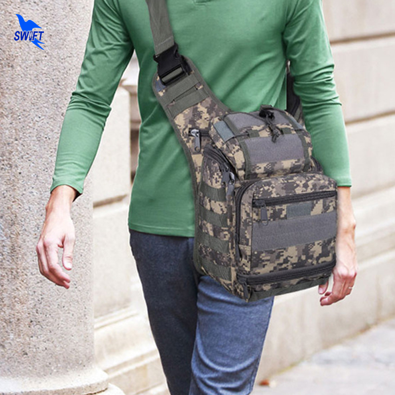 Tactical Camping Waist Pack Outdoor Single Shoulder Bag Military Camouflage Waterproof Camera Handbag 600D Nylon Travel Pouches romanson часы romanson tl1157smj wh коллекция gents fashion