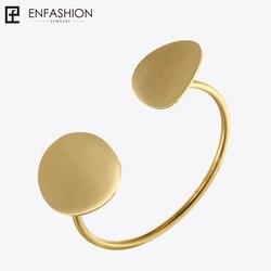 Enfashion лепестки цветка Браслет-манжета манжетой золотой цвет Нержавеющаясталь браслет для Для женщин браслеты на запьястье напульсники
