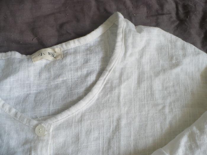 New spring and summer 2020 Women Linen Original Design Llarge Size Women's Shirt Female Blouse cardigan coat  16464 3