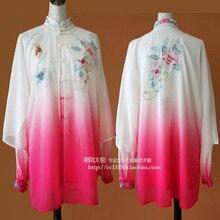 Customize Chinese Tai chi uniform taiji clothing Martial arts performance shawl wushu clothes for men women children girl kids
