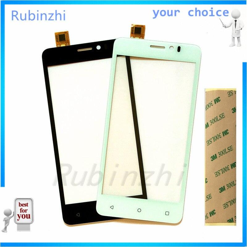 RUBINZHI Phone Touch Sensor FOR Prestigio Muze K5 PSP5509 PSP 5509 DUO Touch Panel Digitizer Glass Replacement Repair Parts+Tape