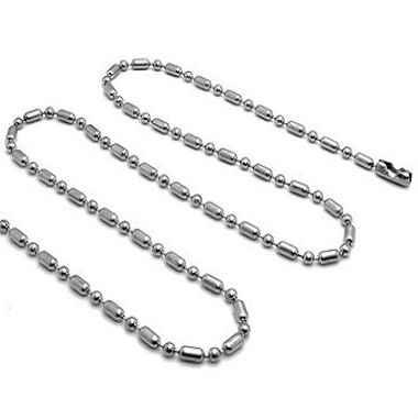 2/2.4/3.2mm 40-100cm paslanmaz çelik boncuk köpek etiketleri zincir kolye, yüzen madalyon zinciri, anahtarlıklar, takı parçaları