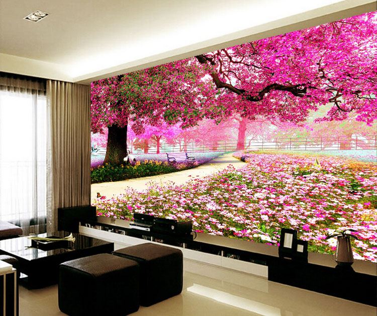 Custom photo wallpaper mural TV background wall bedroom living room ...