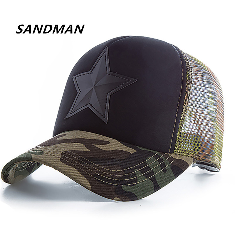 Star Camouflage Mesh Baseball Cap Swag Snapback Desert Camo Hat For Men Cap Hip Hop Cap Women Gorra Casquette Bone