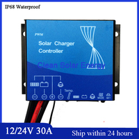 New 12V 24V Automatic ID PWM Mode 30A Soalr Charge Controller Soalr Panel Regulator 30A IP68