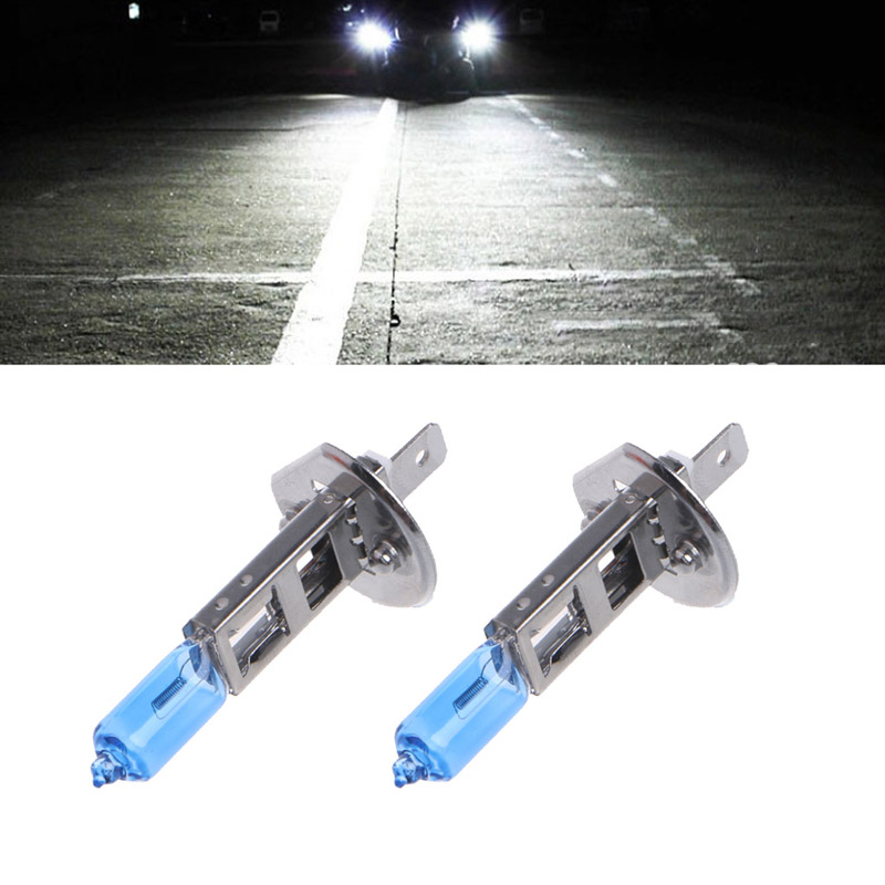 2x H1 Halogen 100W 12V Headlight Fog Light Bulbs Xenon Super Bright White