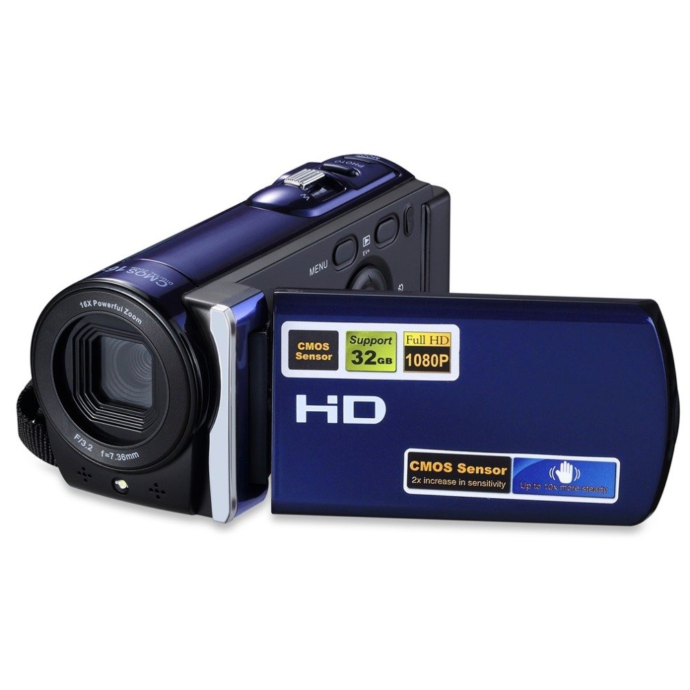 HD 1080P 16MP Digital Video Camera HDMI Output 3.0'' TFT LCD Screen 16X Zoom Portable Video Camcorders 32GB Video Surveillance hot sale 16mp 4x zoom high definition digital video camera camcorder 2 4 inches tft lcd screen 8gb auto power off dropshipping