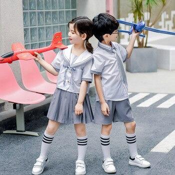 Kindergarten clothing summer children's orthodox JK uniform school uniform college wind suit primary school class service