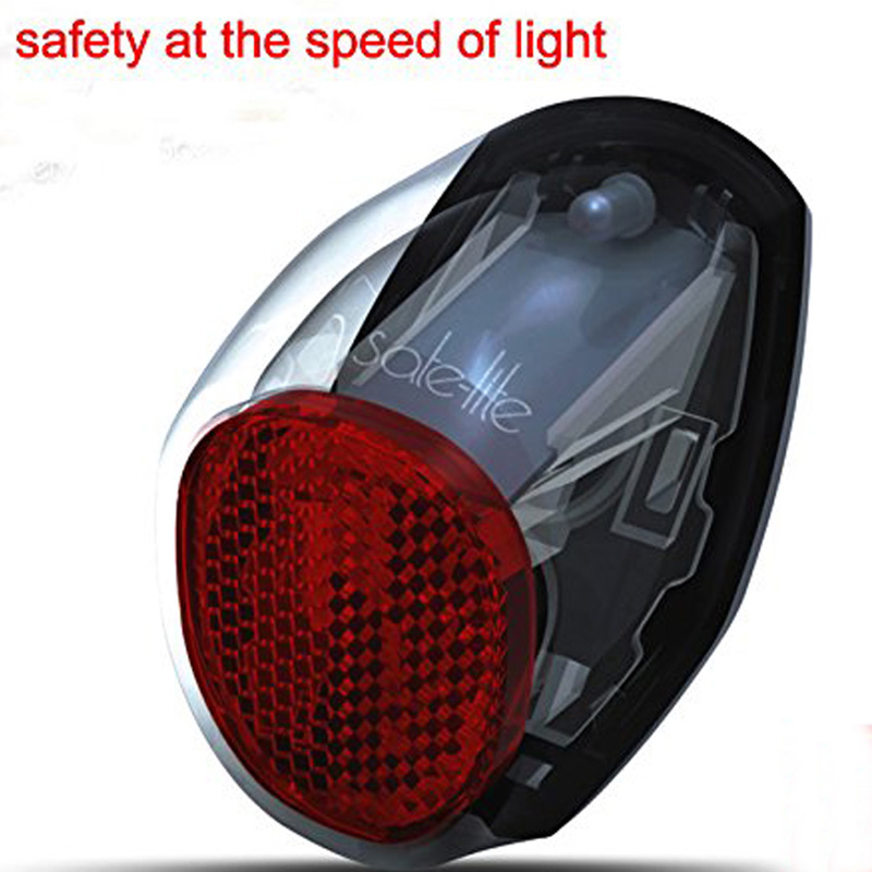 Waterproof Red LED Solar Powered Bike Bicycle Rear Back Safety Light- 320 Degree Visiable Range rear waterproof red