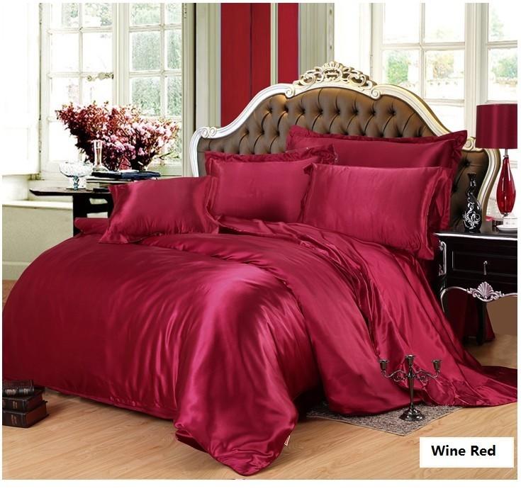 Ehtsast siidist voodipesukomplektid
