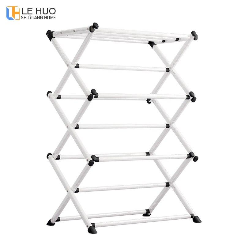 Floor-standing Hangers Bedroom Coat Rack Household Folding  Space-saving Drying Rack Towel Shelf Furniture