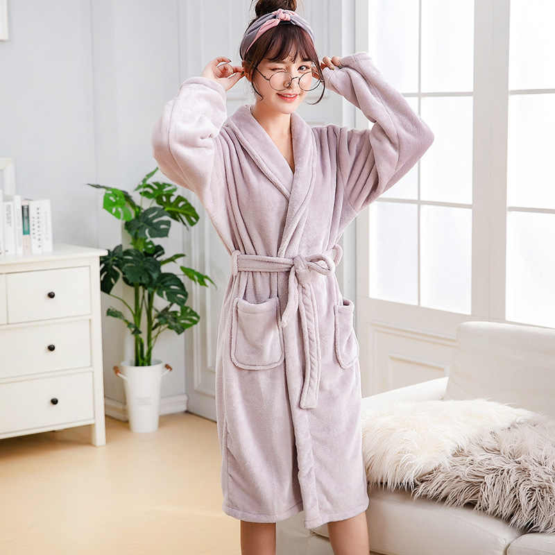 bf74308239 ... New Arrival Chinese Female Coral Fleece Robe Kimono Gown Winter Thick  Warm Nightgown Sleepwear Women Casual ...