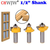 3pcs Set 1 2 Shank Glass Door Plank Wood Working Tools Curboard Cutter Router Bits T