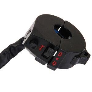 """Image 5 - 1 шт. алюминиевый водонепроницаемый переключатель управления на руль мотоцикла для аварийного освещения выключатель света сигнала поворота подходит для руля 7/8"""""""