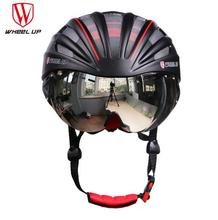 WHEEL UP Integrally Aerodynamic EPS Lens Cycling Helmet Ultra-Light Mountain Bike Helmet MTB Bicycle Helmet Byclcle Accessories