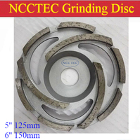 5 6 Diamond Grinding Cup Wheels 125mm 150mm Concrete Grinding Discs Silver Welding 3 Long Segments