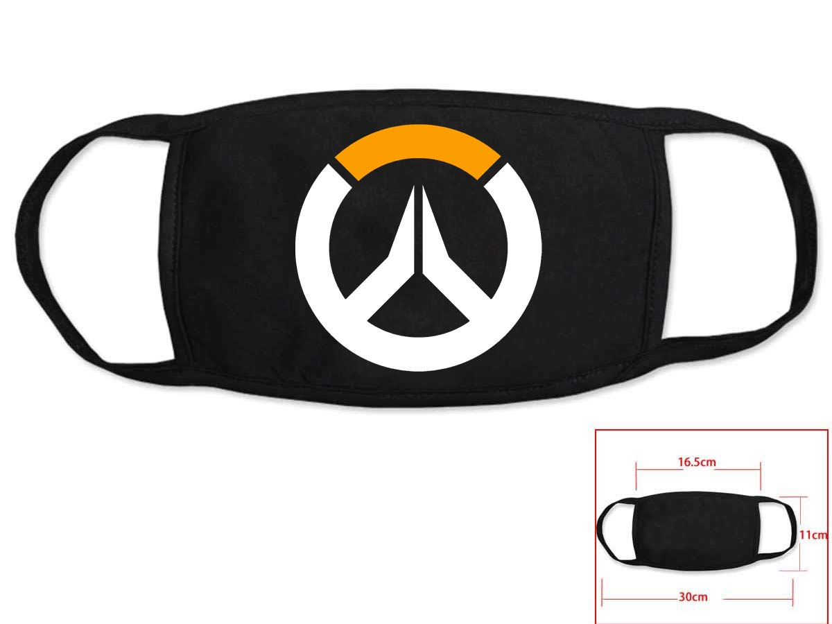 Hot Game Overwach Cosplay Black Face Collection Gift Hip Hop Fashion Mask Unisex With Overwach Logo