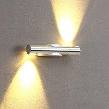 Led-Wall-Lamp Light-Fixture Stair-Light Loft Square Round Aluminum 6W