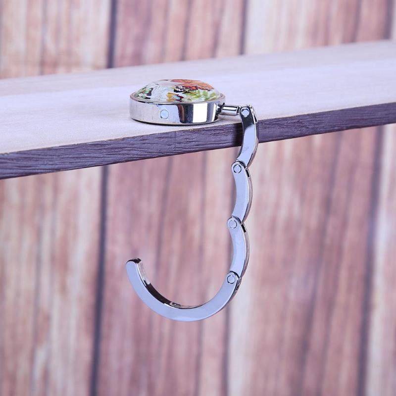 Metal Rhinestone Folding Handbag Purse Table Hook Hanger Holder SODIAL R