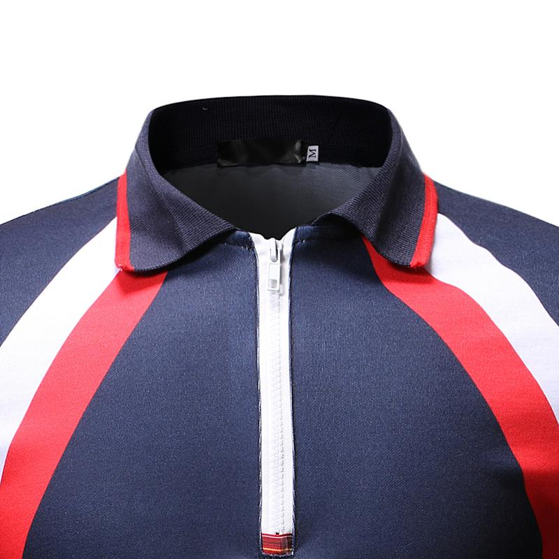 Stripe Men Polo Shirt Short sleeve Casual Tees Lapel collar Tops Men 39 s Clothing Polo Shirt Men Fashion Black navy in Polo from Men 39 s Clothing