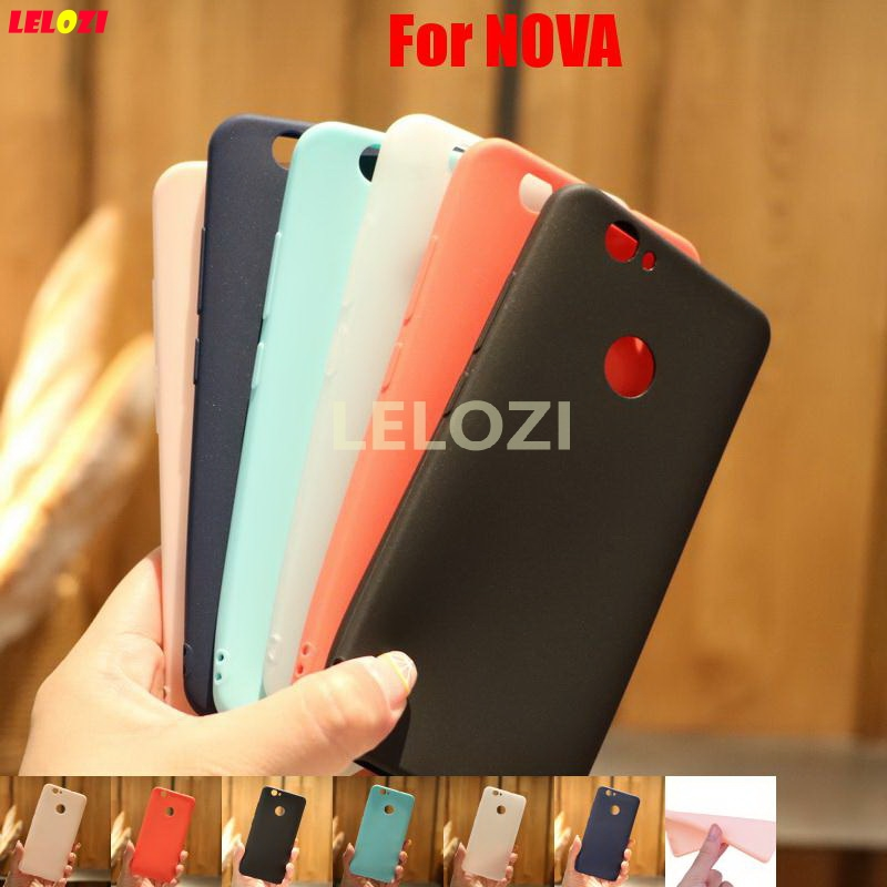 LELOZI Beautiful Cute New Pretty Candy Colors TPU Rubber Phone Mobile Phon Carcasa Etui Case For Huawei NOVA Red White Pink