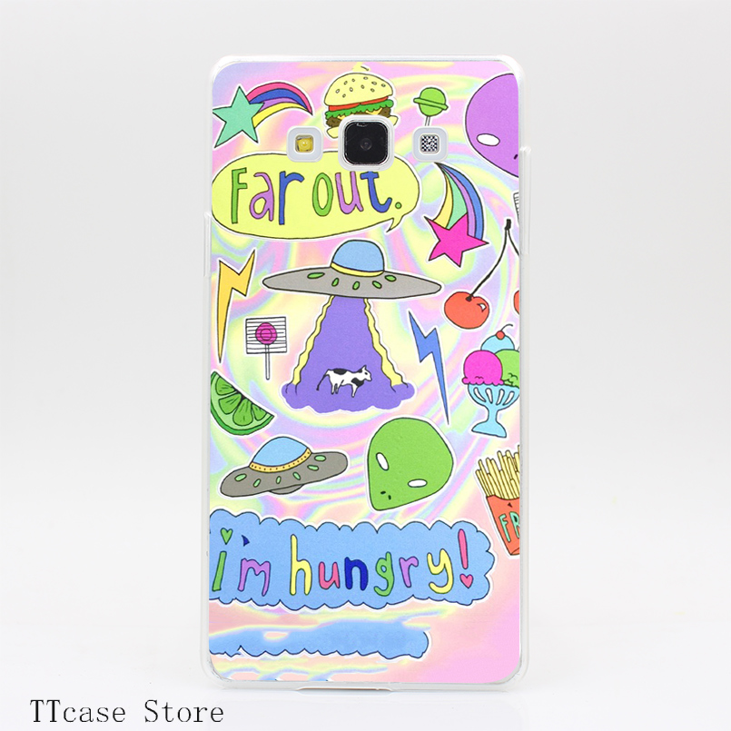 1805CA Hungry Alien Transparent Hard Cover Case for Galaxy A3 A5 A7 A8 Note 2 3 4 5 J5 J7 Grand 2 & Prime
