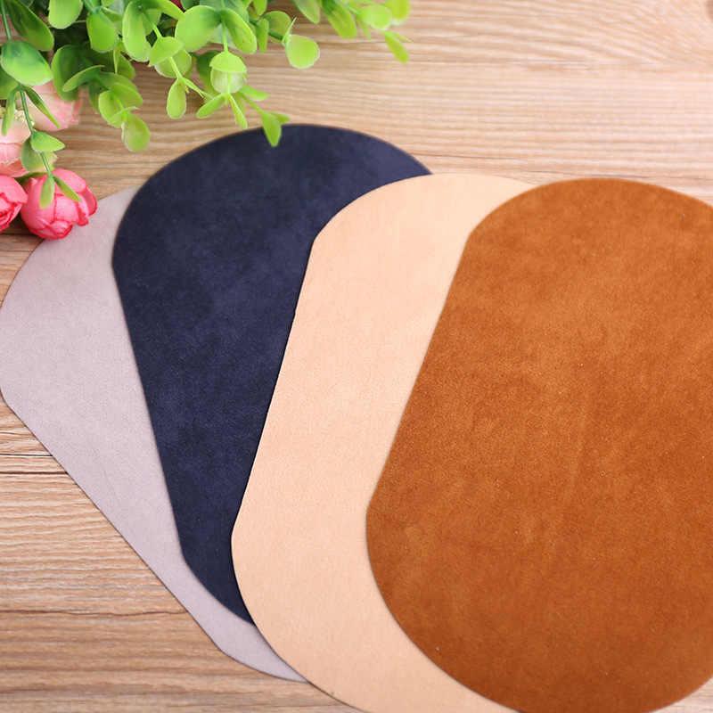 פשוט סגלגל רקמת תיקון חום העברות ברזל על לתפור על תיקון בגדי מרפק הברך תיקוני מדבקות דקורטיבי אפליקציות 47234