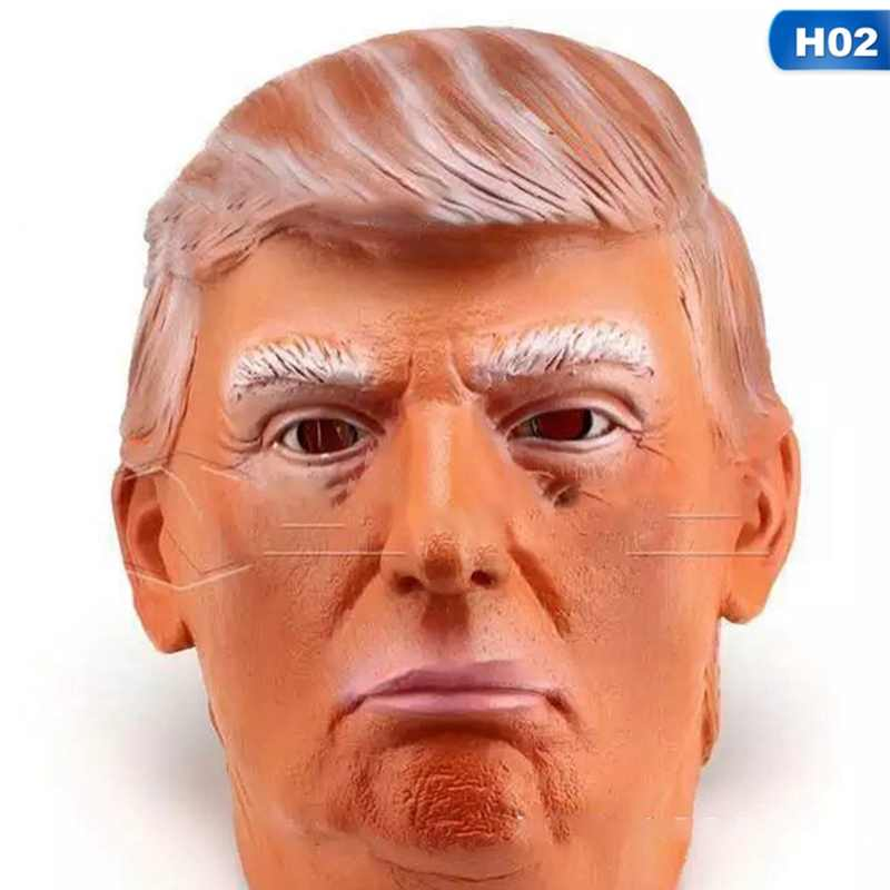 Donald Trump Mask Presidential Costume Latex Cospaly Mask The USA President Trump Mask For Celebrity Spoof Props