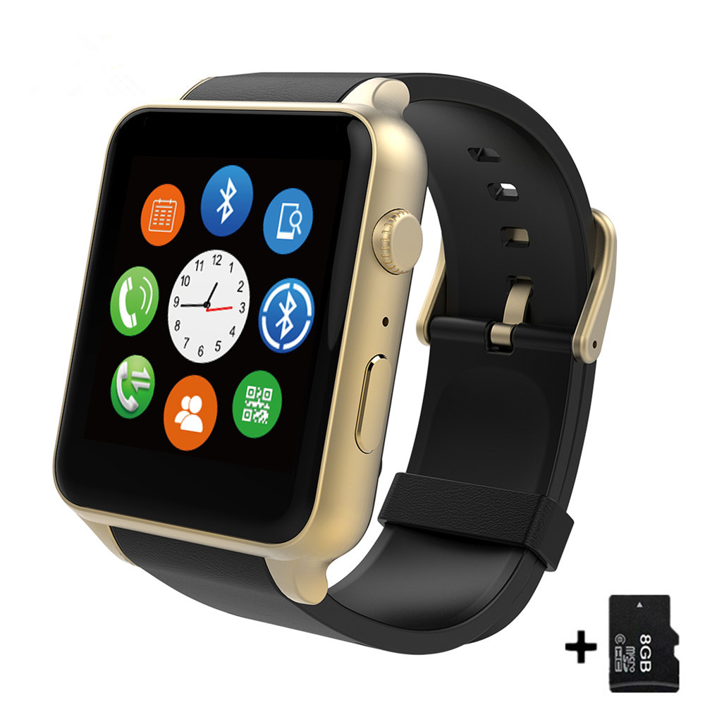 GT88 Bluetooth montre intelligente étanche moniteur de fréquence cardiaque Smartwatch système Smartphone Support TF/carte SIM pour IOS Android