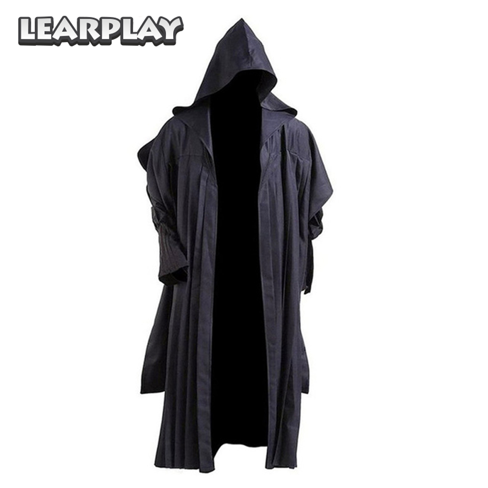 Star Wars Robe Jedi Costume New 2017 Black Robe Hoodie Cloak Halloween Christmas Cosplay Tunic for Woman Men