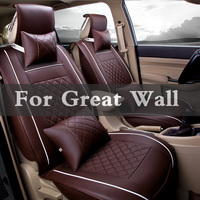 Auto Accessories Car Styling Pu Leather Car Seat Case Pad Covers For Great Wall Coolbear Florid Hover H3 H5 H6 Voleex C10 C30