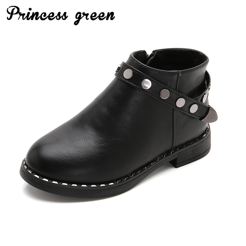 Winter new girls shoes fashion rivet boots high quality snow boots wild Martin boots warm non-slip 2016 new winter kids snow boots children warm thick waterproof martin boots girls boys fashion soft buckle shoes baby snow boots