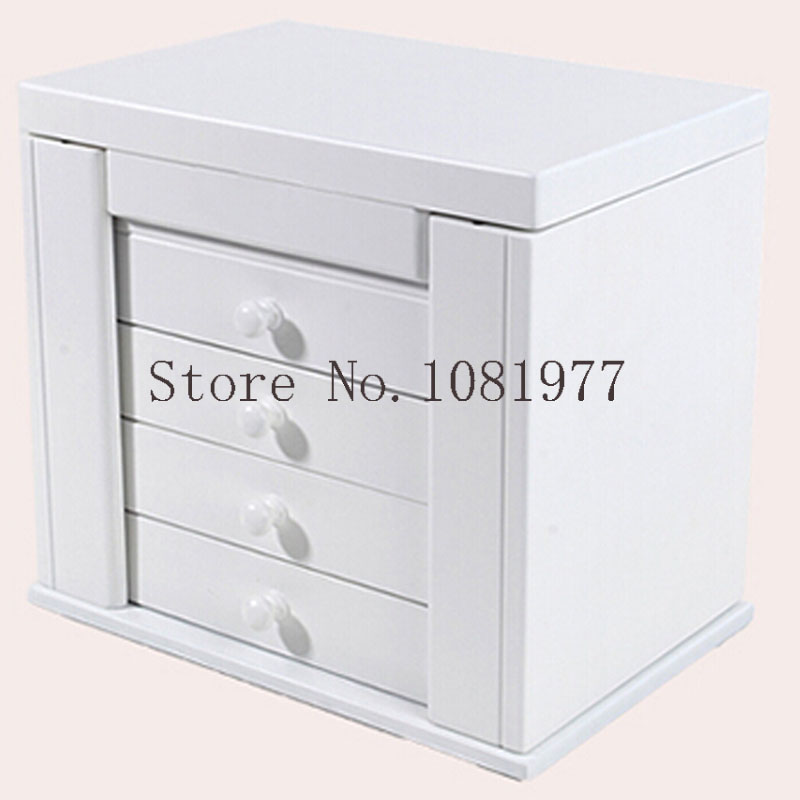 Wooden Box for Jewelry Packaging Jewelry Organizer Display Case Armoire Boite de RangementWooden Box for Jewelry Packaging Jewelry Organizer Display Case Armoire Boite de Rangement