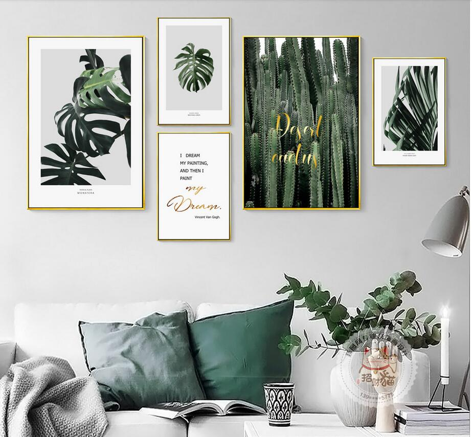 Nordic Home Decorative Painting Breathing green combination scenery ...