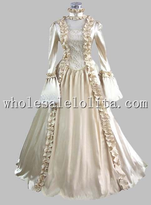 Aliexpress.com : Buy British Champagne Silk like Victorian Era Dress ...