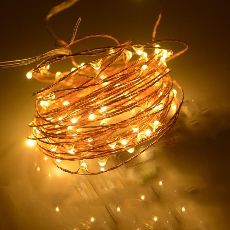 SPLEVISI 30 m 300 LED de Natal Ao Ar Livre Luzes De Fadas LEVOU Luzes da  Corda de Fio de Cobre Luz Estrelado Guirlanda + Adaptador de Energia ( 8182b4fdc6