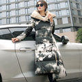Long coat Floral Print Women Fashion Pillow Collar coat Ladies thicken Jacket Winter Quilted jacket Parkas Female winter Outwear