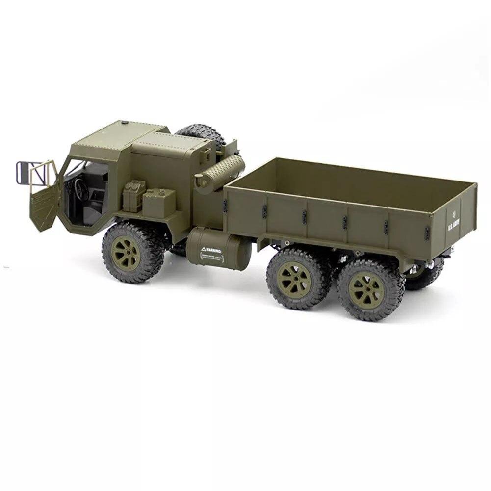 FY004A 1:16 6WD drôle enfants 2.4G véhicules modèle jouets passe-temps proportionnel hors route RC voiture armée camion course léger cadeau