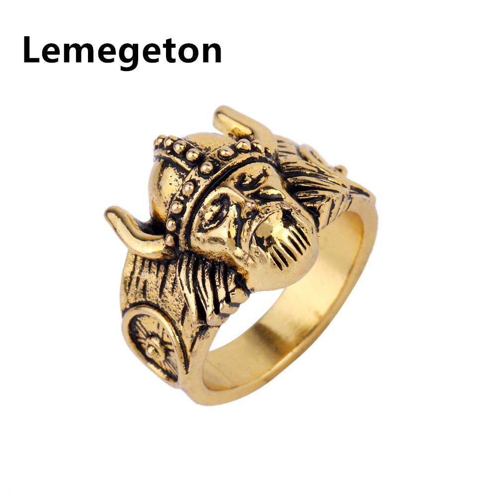 Lemegeton Genuine Fashion Retro Amulet Norse Viking Odin Symbol Scandinavian  Valknut Warrior's Ring Men Wedding Ring