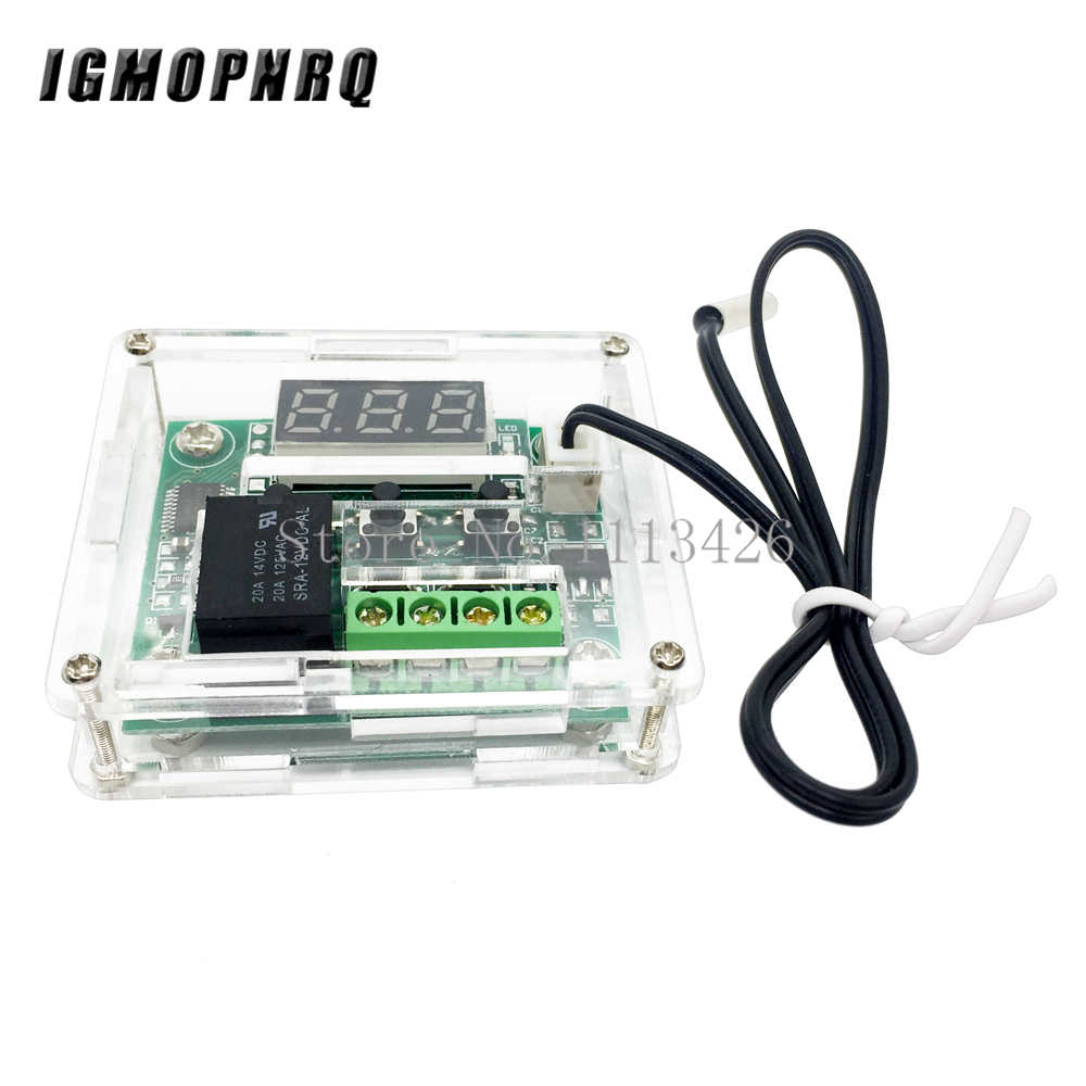 W1209 DC12V Cool Temp Thermostat Suhu Control Switch Suhu Controller Thermometer Thermo Controller + Akrilik Kotak