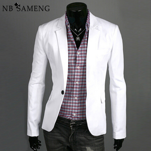 2017 New Arrival Men Blazer Masculino Formal Fashion Casual Suit Jacket Slim Fit Blazers Jackets 5 Colors Plus Size BS025