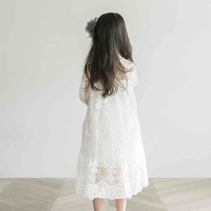 Image 3 - Big Girls Dress Summer Princess Party Frocks Lace Embroidery White Dress for Teens Girl 4 6 8 10 11 12 14 Yrs Children Clothing-in Dresses from Mother & Kids