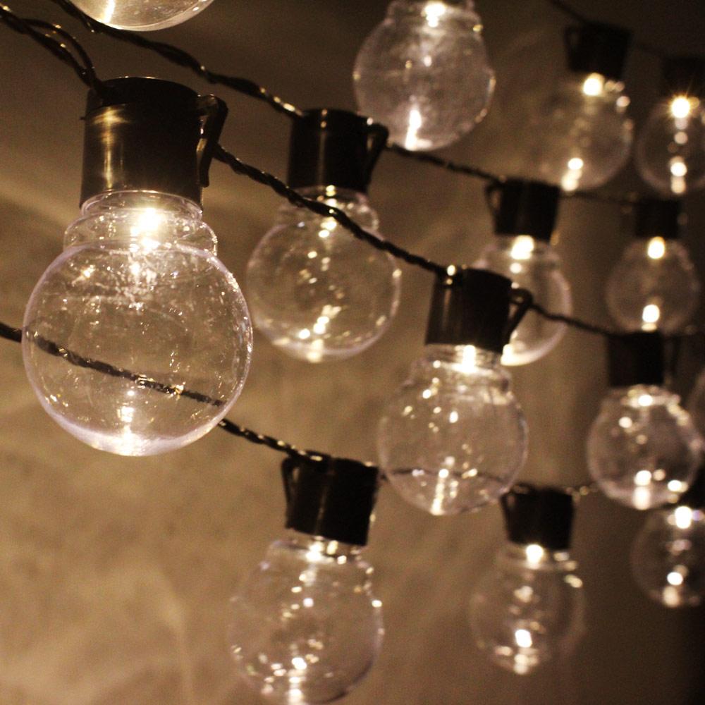 Led String Christmas Lights Outdoor 220v 10m Light Chain Festoon Bulb Wedding Party Garland