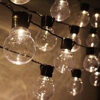 LED String Christmas Lights Outdoor 220V 10M Light Chain LED Festoon Bulb Wedding Party Garland Xmas Decoration Fairy Lights