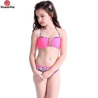 2018 Dwuczęściowy Strój Kąpielowy dla Dziewczynek Drukarki Halter Bikini Dziecko Dzieci Piękne Stroje Kąpielowe Dla Dzieci Strój Kąpielowy Plaży Latem nosić