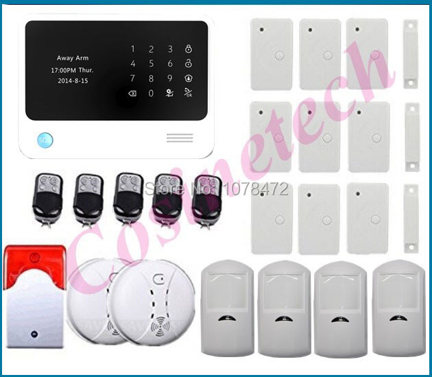 New G90B security GSM WIFI alarm system with GPRS,Touch keypad LCD display,IOS Android APP Auto-call SMS Burglar Alarm System good quality sms gsm security alarm with voice in 7 languages touch keypad app controlled burglar alarm system with new sensor
