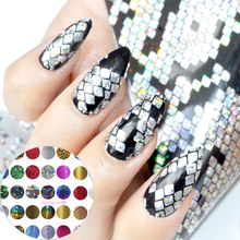 Galaxy series Nail Foil Sparkle Cat Eye Dust Pattern Blue Silver Snake Nail Glue Transfer Foil Sticker DIY Nail Decoration(China)