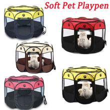 Мягкий Оксфорд водонепроницаемый манеж собака кошка щенок играть большой круглый ящик клетка палатка Открытый Портативный 2 размера